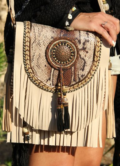 Boho Shoulder Bag Winter Sun