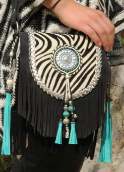 Boho Shoulderbag Winter Zebra