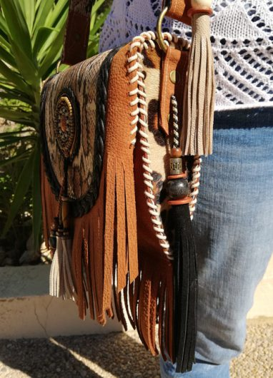 Boho Shoulder Bag Python