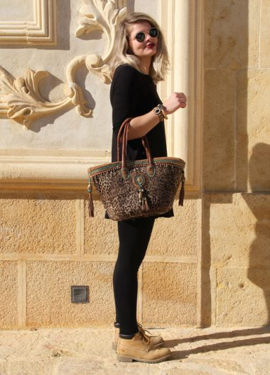 Beach Bag Winter Leopard