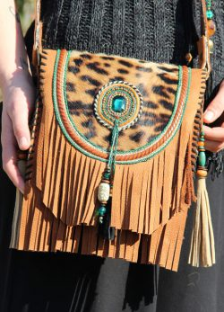 Boho Shoulder Bag Cheetah Summer
